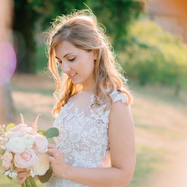giulia & guido | romantic pale-pink wedding at Borgo della Rocca