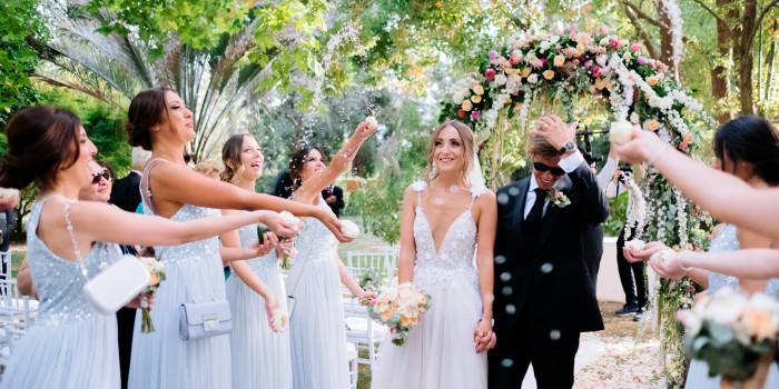tiziana & salvatore | a midsummer night's dream themed wedding